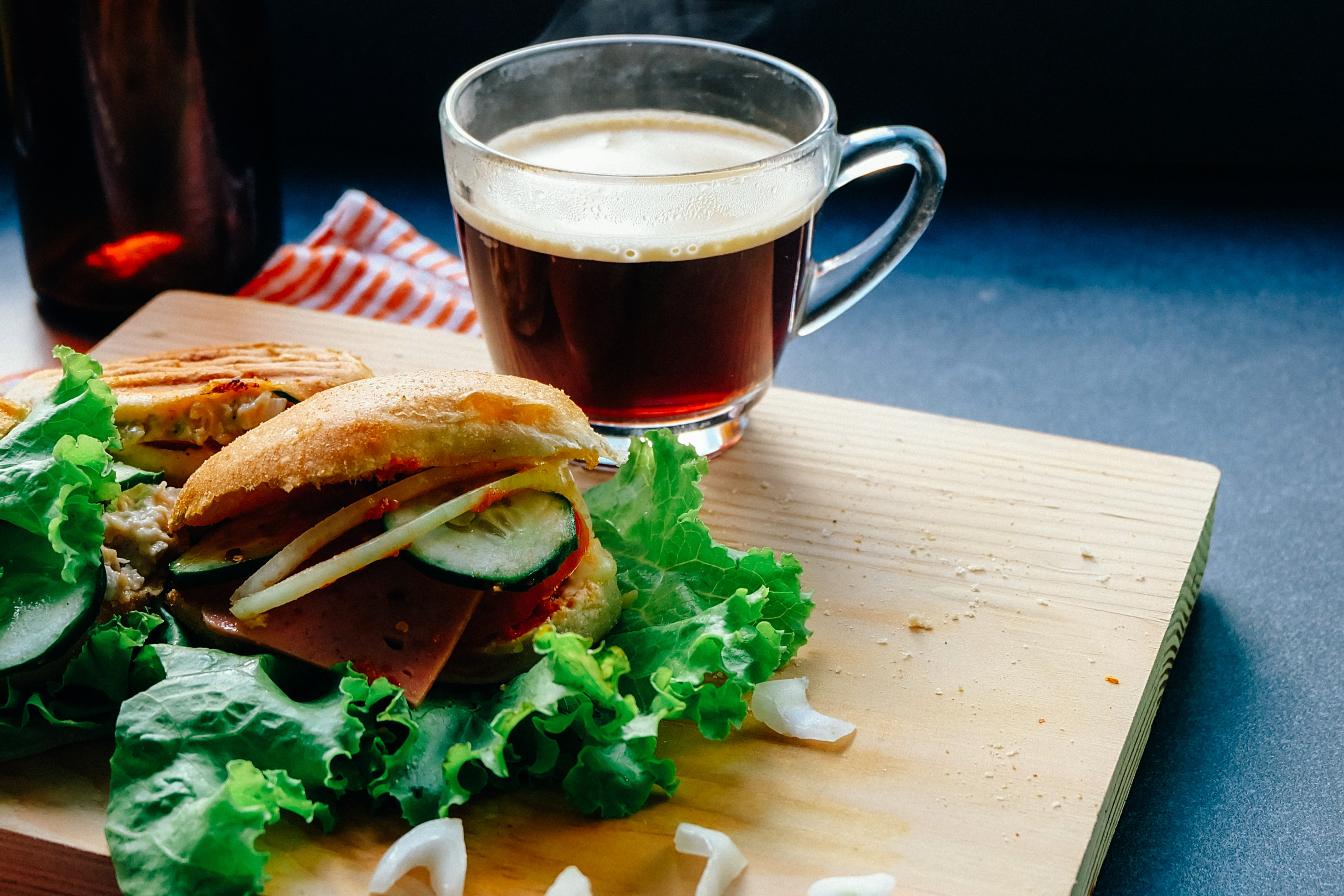 Sandwich with coffee